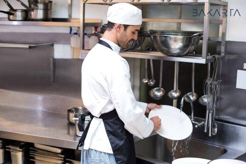 Funciones de limpieza en un restaurante